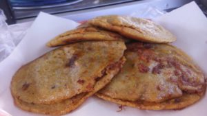 Steamed gorditas are usually a quick bite on the street, presentation is not usually a priority for vendors.
